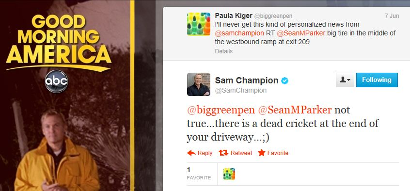 Sam Champion Sean Parker Tweets