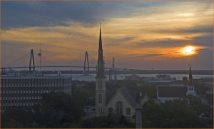 Sunrise over Marion Square -- Charleston (SC) July 11, 2012