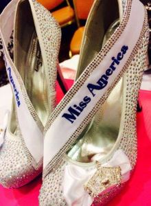 """Shoes designed by The Sash Company for Miss America 2014 Nina Davuluri to wear in the """"Show Us Your Shoes"""" parade -- perfect image for the """"footnotes"""" section, right?!"""