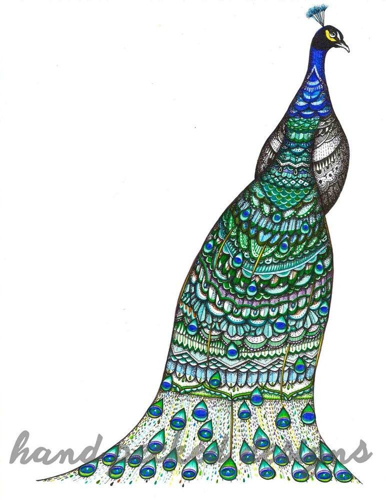 Benefit Peacock Print